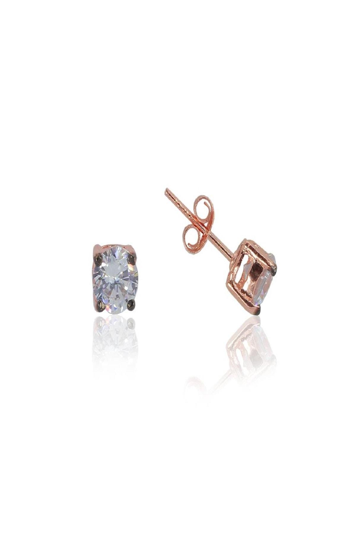 Söğütlü Silver Gümüş rose kolye ve küpe gümüş set 2