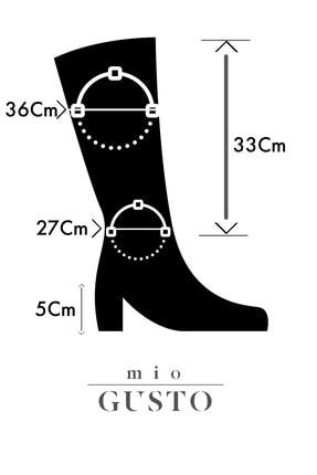 Mio Gusto Lidya Siyah Çizme 2