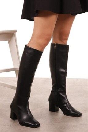 Mio Gusto Courtney Siyah Küt Burun Çizme 1