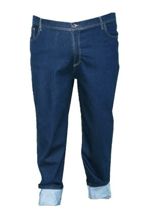 Epos Erkek Lacivert Büyük Beden Likralı Fit Kalıp Kot Pantolon 1