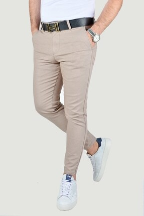 Terapi Men Erkek Bej Keten Pantolon 2