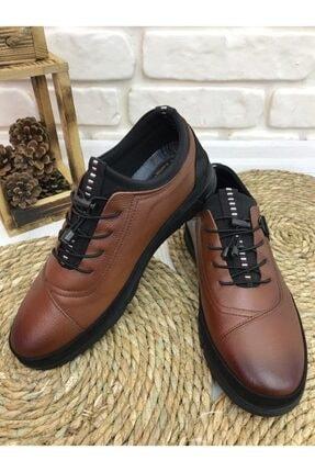 FOTİN - Hakiki Deri, Kauçuk Taban, Bağcıklı, Taba, Erkek Ayakkabı 0