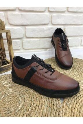 FOTİN - Hakiki Deri, Kauçuk Taban, Bağcıklı, Taba, Erkek Ayakkabı 1