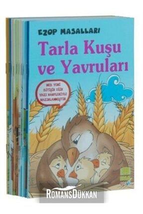Ema Çocuk Ezop Masalları Seti 10 Kitap Takım Küçük Boy  1 ve 2. Sınıflar İçin 0