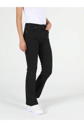 Colin's 791 Monıca Regular Fit Orta Bel Boru Paça Kadın Siyah Jean Pantolon 0