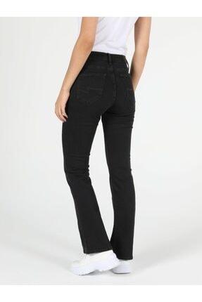 Colin's 791 Monıca Regular Fit Orta Bel Boru Paça Kadın Siyah Jean Pantolon 1