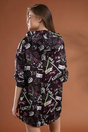 Pattaya Kadın Grafik Desenli Kapşonlu Oversize Elbise Sweatshirt Y20w110-4125-7 3