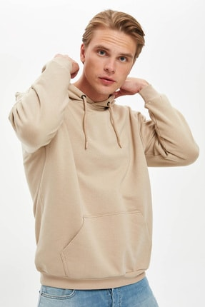 Defacto Oversize Fit Kapüşonlu Sweatshirt 4