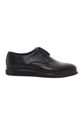 CSS FURKAN Erkek Bağcıklı Siyah Hakiki Deri Günlük Ayakkabı 0