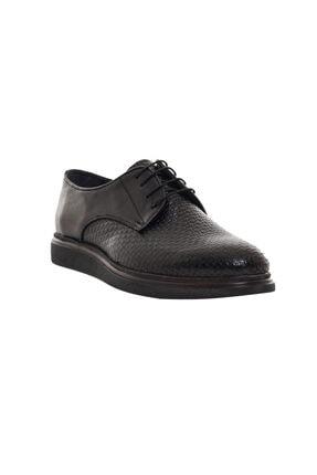 CSS FURKAN Erkek Bağcıklı Siyah Hakiki Deri Günlük Ayakkabı 1