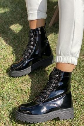 İnan Ayakkabı KADIN SİYAH RUGAN BOT&BOOTİE&POSTAL KY3040 1