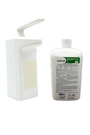 Ecolab Dirsek Basmalı Dezenfektan Dispenseri 1 Lt Derhand Plus Dezenfektan Hediyeli 1