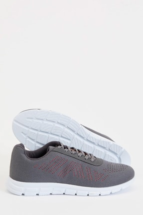 Defacto Kadın Gri Bağcıklı Aktif Spor Ayakkabı S1728AZ20AU 3