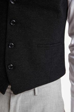 Defacto Erkek Antrasit Slim Fit Klasik Yelek R8010AZ20AU 2