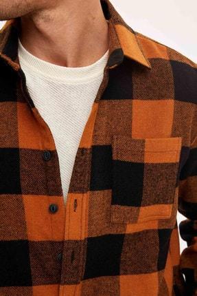 Defacto Ekose Uzun Kollu Regular Fit Gömlek Ceket 2