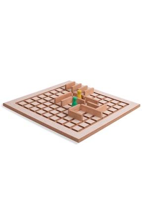 BEMİ Lüks Ahşap Seyahat Seti 3 Oyun Bir Arada - Satranç Penta Blok Koridoor Çocuk Ve Aile Kutu Oyunu 4