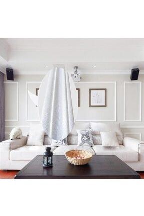 Renkli Duvarlar Nwçıta01 Beyaz 8cm-117cm Dekoratif Yapışkanlı Kenar Çıtası 1