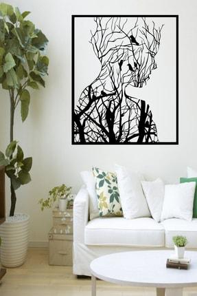 PAYİDARTS Ormandan Doğan Kadın Lazer Kesim Metal Duvar Tablo 70x87cm 4
