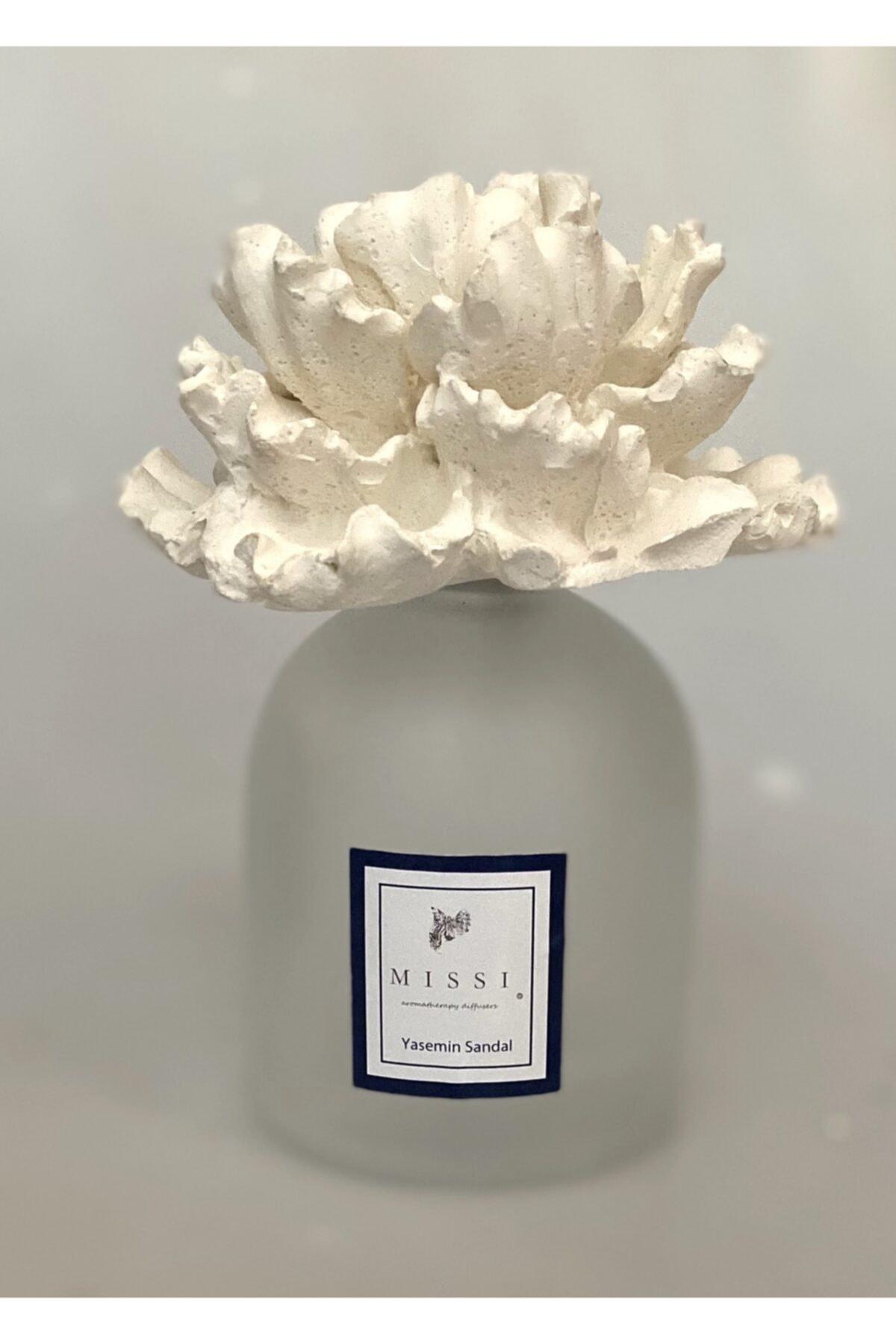 250 Cc Çiçek Seramik Taşlı Yasemin Sandal Oda Kokusu