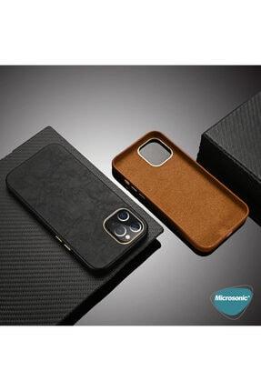 Microsonic Apple Iphone 12 Pro Max Kılıf Luxury Leather Kahverengi 4