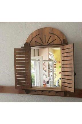 trendyhome Dekoratif Ahşap Panjurluk Askılık Ve Ayna 0