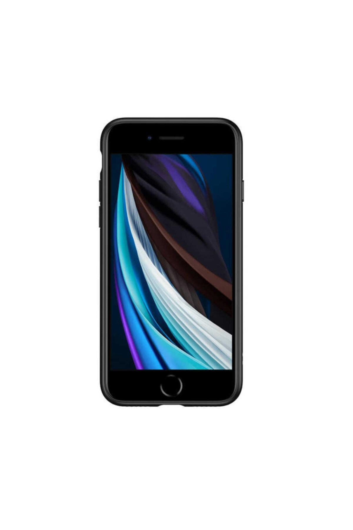Zore Apple Iphone 7 Kılıf Kamera Korumalı Renkli Kenarlı Şeffaf Esnek Silikon Kapak