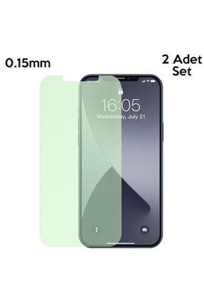 Baseus Iphone 12- 12 Pro 6.1 0.15mm Full Tempered Cam Ekran Koruyucu 2set Anti-bluelight 1