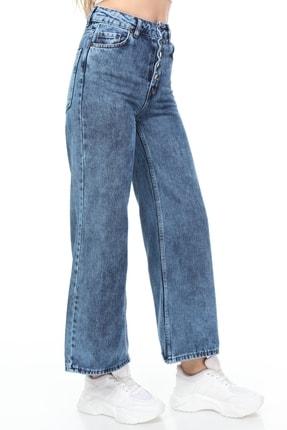 Sismo Butik Kadın Bol Paça Kot Pantolon Wide Leg Jeans 3