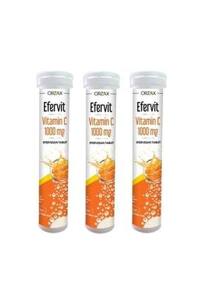 Orzax Efervit Vitamin C 1000mg 20 Tablet X 3 Kutu (60 Tablet) 0