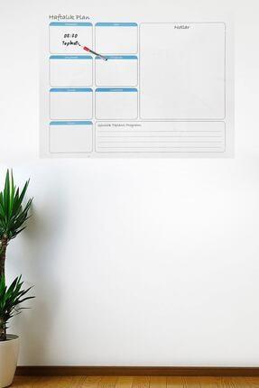 Buffer Haftalık Planlayıcı Manyetik Duvar Stickerı Takvim 100 Cm X 60 Cm 0