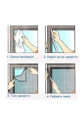 Arsimo Kesilebilir Pencere Sinekliği 2 Adet Cırt Bantlı Yapışkanlı 100cm X 150cm 1