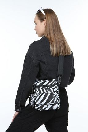 KISCHE Kadın Zebra Desenli Omuz Çantası 2