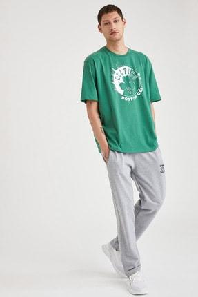 Defacto Fit Erkek Green Nba Lisanslı Oversize Fit Pamuklu Tişört T6199AZ20CW 1