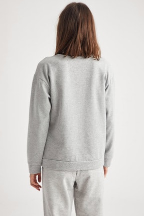 Defacto Basic Relax Fit Örme Sweatshirt 3