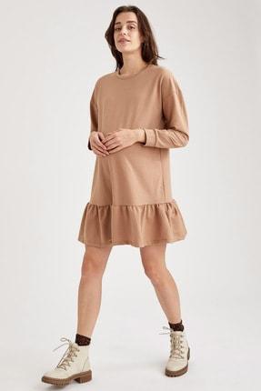 Defacto Volanlı Etek Detaylı Hamile Elbisesi 1