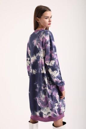 Kokosh Kadın Mor Batik Sweat Elbise 1