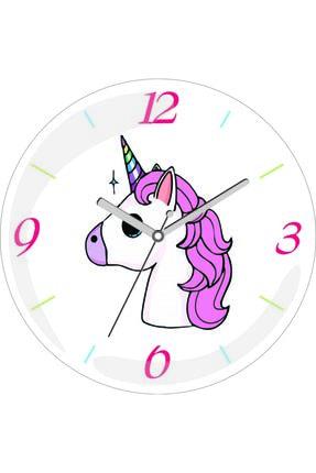 3M Unicorn Tasarım Sessiz Akar Bombeli Gerçek Cam Duvar Saati 0