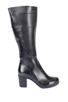 GÖNDERİ(R) Gön Hakiki Deri Siyah Topuklu Fermuarlı Günlük Kadın Çizme 44602 3