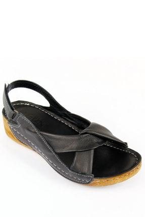GÖNDERİ(R) Kadın Siyah Hakiki Deri Sandalet 42304 4