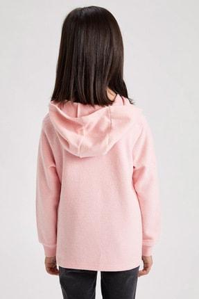 Defacto Kız Çocuk Baskılı Kapüşonlu Sweatshirt 3