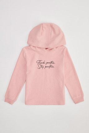 Defacto Kız Çocuk Baskılı Kapüşonlu Sweatshirt 4