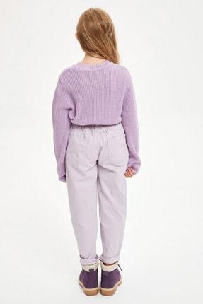 Defacto Kız Çocuk Elastik Belli Paperbag Jean Pantolon 1