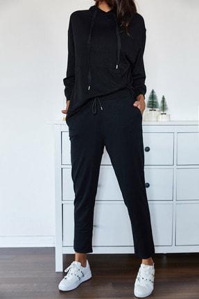 Xena Kadın Siyah Eşofman Takımı 1KZK8-11022-02 3