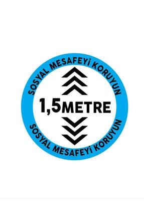 AKTİF AJANS Sosyal Mesafe Zemin Etiket Sticker, Zemin, Folyo Set Daire 3 Lü Set 2