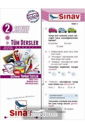 Sınav Yayınları Sınav 2 Sınıf Tüm Dersler Çek Kopar Yaprak Testler Yeni 0