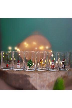 ADAMODART Yılbaşı Özel 6'lı Kahve Yanı Su Bardağı 0