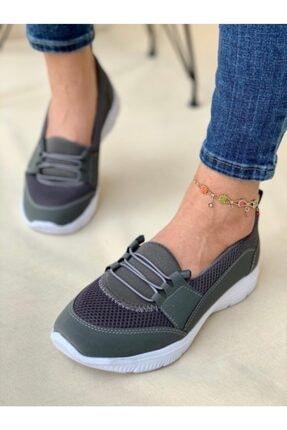 AYŞEM Kadın Gri Ortopedik Günlük Ayakkabı 3