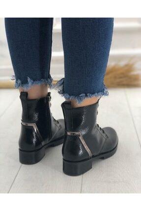 KADIOĞLU Ayakkabı Kadın Siyah Gündelik Kullanım Suni Deri Tarz Postal Bot 3