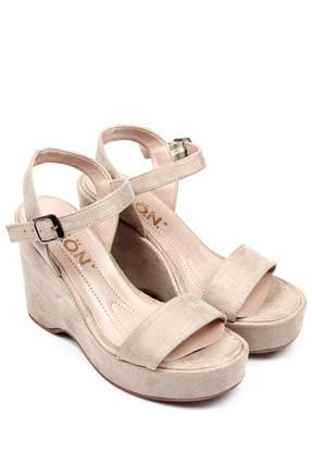 GÖNDERİ(R) Bej Nubuk Kadın Sandalet 41000 3