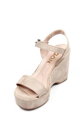 GÖNDERİ(R) Bej Nubuk Kadın Sandalet 41000 4